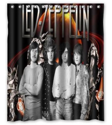 Hot Gift Led Zeppelin Shower Curtain 60 X 72 Inch With Hooks