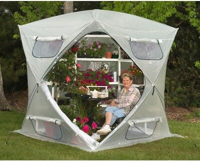 7 ft. Pop-Up Greenhouse BloomHouse Screened Vent Openings Grower Waterproof New
