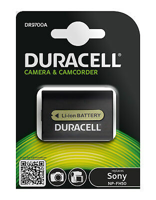 Genuine  Duracell Camcorder Battery for Sony Battery P/No  NP-FH50  NPFH50