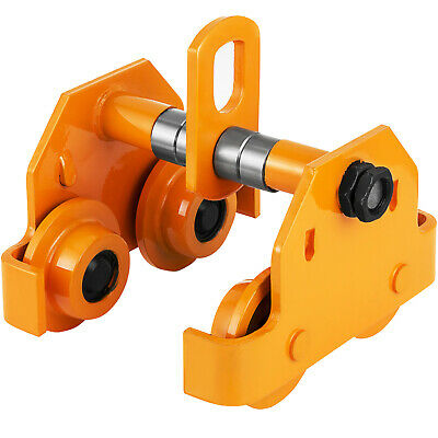 Brand New 1Ton Push Beam Trolley Fits Straight Or Curved I-Beams