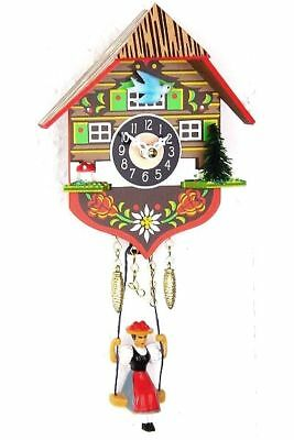 Engstler 0130 Sq Miniature Black Forest Clock with Battery-Powered Quartzwerk