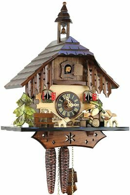 Bernhardiner 33cm- Original Black Forest Cuckoo Clock Real Wood M