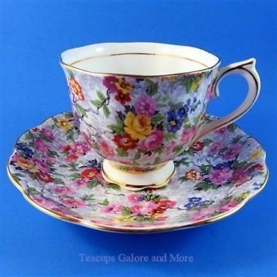 Royal Albert Colorful Floral Bouquet Chintz Tea Cup and Saucer Set