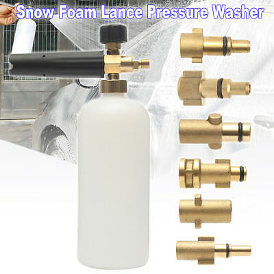 1L Bottle Car Pressure Washer Spray Cannon Foam Lance For Karcher Lavor Nilfisk