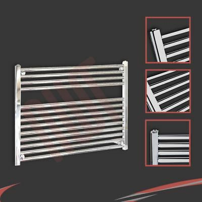 900mm(w) x 600mm(h) Straight Chrome Heated Towel Rail 1744 BTUs Radiator Warmer