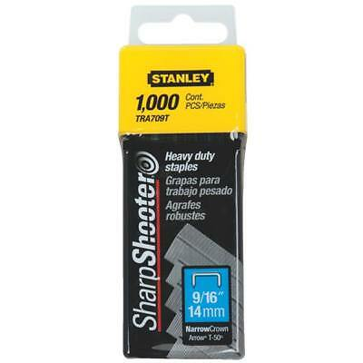 """(3)-Stanley SharpShooter 9/16"""" Leg X 7/16"""" Wide Staples (1000-Pack) TRA709T"""