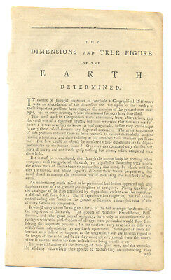 1791 Essay about the Dimensions and Age of the Earth - Amazing!