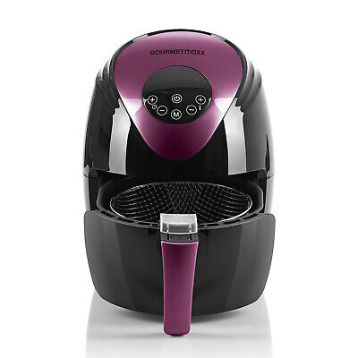 GOURMETmaxx Heißluft-Fritteuse Digital 2,5l 1500W | Color-Edition: Beere