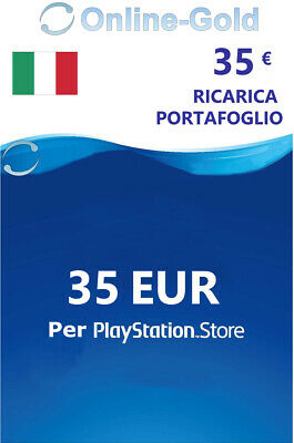 35 EURO PlayStation Scheda carte prepagate 35€ Eur Sony PSN PS3 PS4 PS Vita - IT