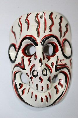 403 MINI SKULL MEXICAN WOODEN MASK calavera hand carved and painted artesania