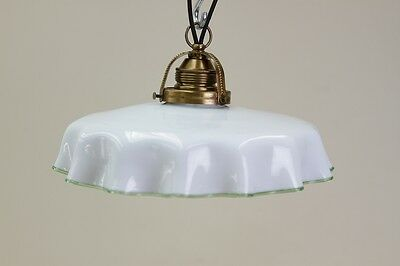 BEAUTIFUL OLD ART NOUVEAU LAMP, Glass Hanging Lamp,Kitchen Lamp