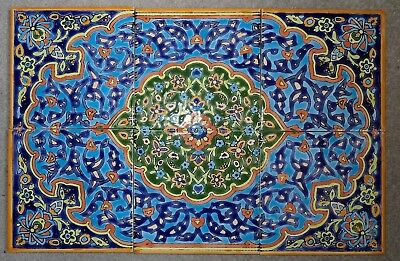 Superb Yazd Hand Painted Tiles Lot of 6
