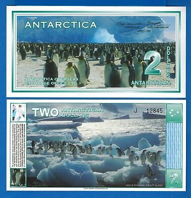Antarctica $2 One Dollar December 1996 (2009) Polymer Uncirculated Free Shipping
