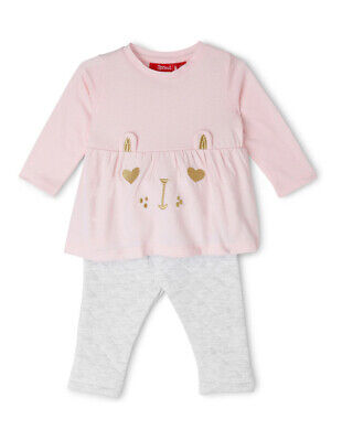 NEW Sprout Girls Bunny Top and Pants Set Lt Pink