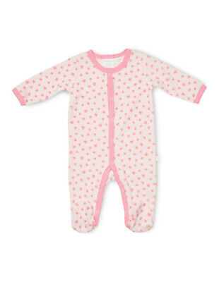 NEW Marquise Velour Studsuit  Hearts Pink