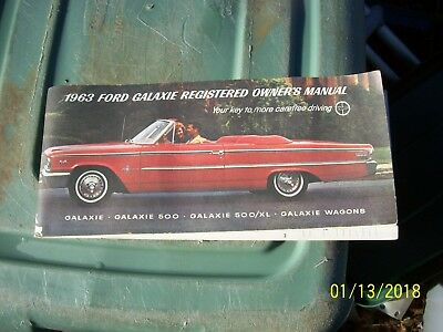 1963 Ford Galaxie Registered Owners Manual