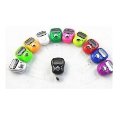 Mini Digital Finger Ring Tally Counter Hand Held Knitting Row Counter LED UK