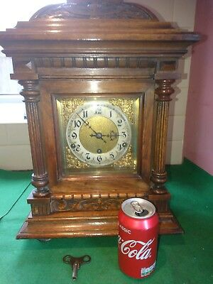Stunning Antique Oak Westminster Chime Bracket Clock /kienzle Urhen Movement Fwo