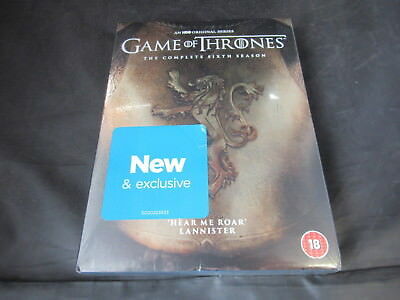 DVD Boxset Game of Thrones The Complete Sixth Season 6 Six New Lannister Gold