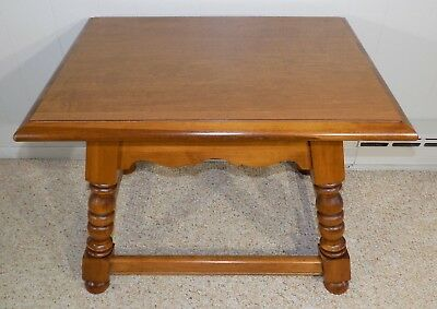 Tell City Hard Rock Maple end table w splayed legs NrMint! side lamp Indiana