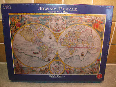 The world king puzzle 1969 1000 piece jigsaw map new ms antique world map 1000 piece jigsaw puzzle brand new factory sealed gumiabroncs Gallery