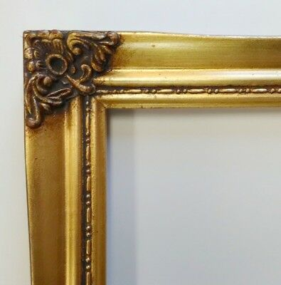 Picture Frame-11x14-Vintage Ornate Antique Style Old Gold Shabby Chic #328G