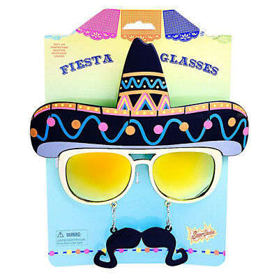 Sombrero Sun-Staches SunGlasses - Sun Glasses - Cinco de Mayo  fnt