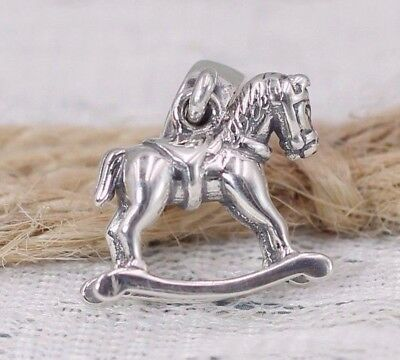 Pandora S925 ALE Rocking Horse Charm (RETIRED) 791413 with Tissue & Pop-up Box
