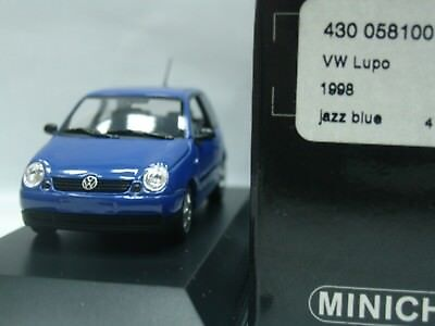 WOW EXTREMELY RARE VW Lupo 1.4 16V 1998 Jazz Blue 1:43 Minichamps-R32/Golf/GTi