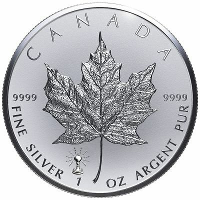 2018 Maple Leaf Light Bulb Privy 1 oz Silver Coin | Direct From RCM Coin Tube