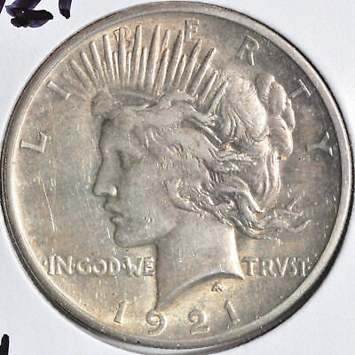 1921 $1 High Relief Peace Dollar Key Date Choice Almost Uncirculated AU
