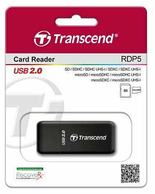 New OEM Transcend RDP5 9-in-1 USB 2.0 Flash Memory Card Reader