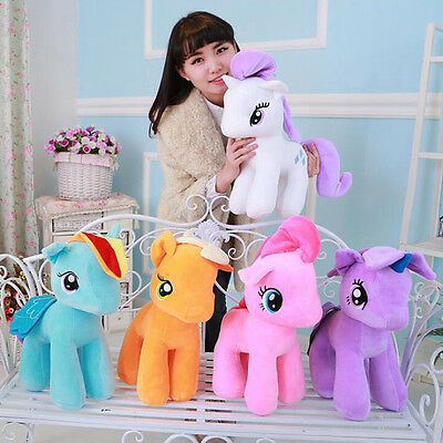 "10"" 25cm My Little Pony Horse Large Stuffed Plush Soft Teddy Doll Toy Girl Gift"