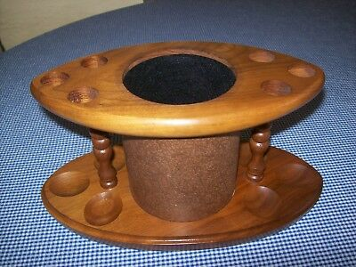 Vintage SOLID AMERICAN WALNUT SMOKING PIPES/TOBACCIANA TABLE TOP DISPLAY RACK