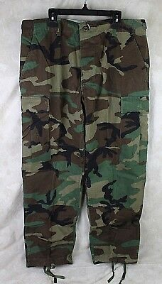Genuine Us Army Military Issue Bdu Combat Pants Woodland Camo  Medium X-Short