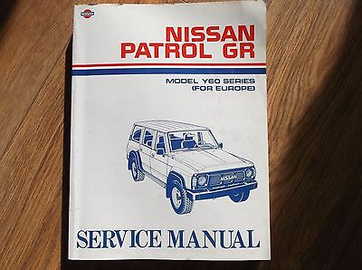 Nissan Patrol GR (Y60 Series) Genuine Factory Workshop Service Repair Manual .