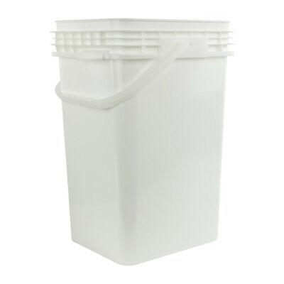 6.5 Gallon White Life Latch (R) Square Pail