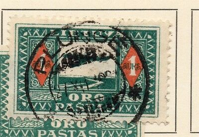 Lithuania 1921 Early Issue Fine Used 1A. Postmark 232056