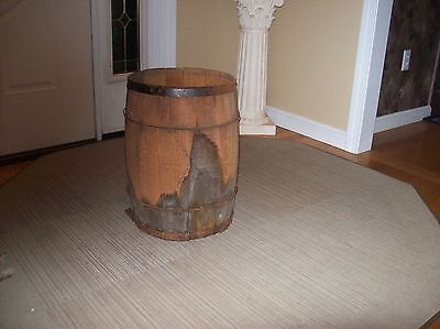 Antique Western Rustic General Store Nail Barrel