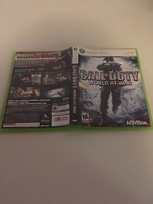 Call Of Duty World At War Microsoft Xbox 360 Ln Condition Complete!-