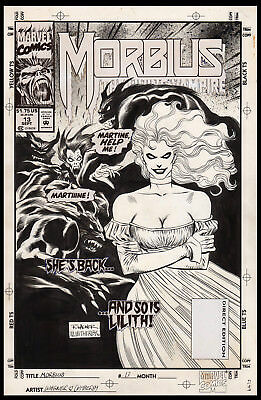 Morbius the Living Vampire #13 Cover Art by Ron Wagner