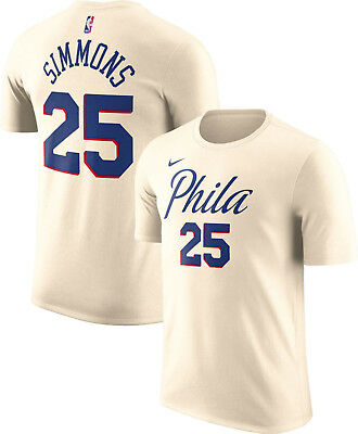 los angeles 75693 f2982 NIKE NBA PHILADELPHIA 76ers City Edition Shirt Jersey Ben Simmons Phila XL  2XL
