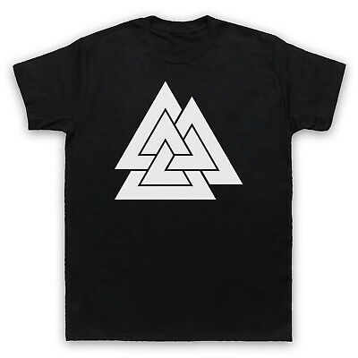 Valknut Historic Germanic Symbol Norse God Odin Knot Mens Womens Kids T-Shirt