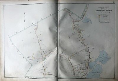 1906 Middlesex County Massachusetts Winchester Country Club Mt. Pisgah Atlas Map