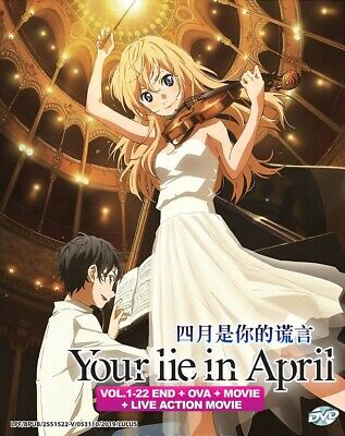DVD Anime Your Lie In April Boxset (1-22 + OVA + Movie) + Live Movie English*
