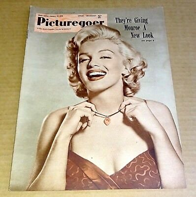 "PICTUREGOER MAGAZINE 16th JANUARY 1954  ""MARILYN MONROE"" COVER /  GRACE MOORE"