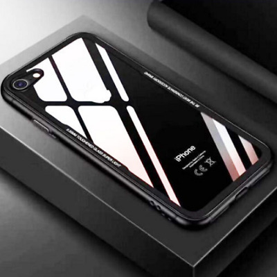 Toughen Temper Glass Hybrid Clear Shockproof Case Cover for iPhone X 8 7 Plus
