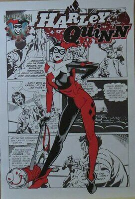 Batman  : Harley Quinn  Strip- Poster-Laminated Available-91cm x 61cm-Brand New