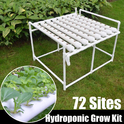 Hydroponic Site Grow Kit 72 Sitios Plant Vegetable Tool Deep Water Garden System