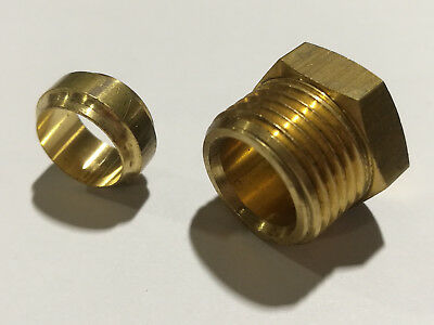Brass Metric Tube Nuts Universal Olives suit Enots Norgren Compression Fittings